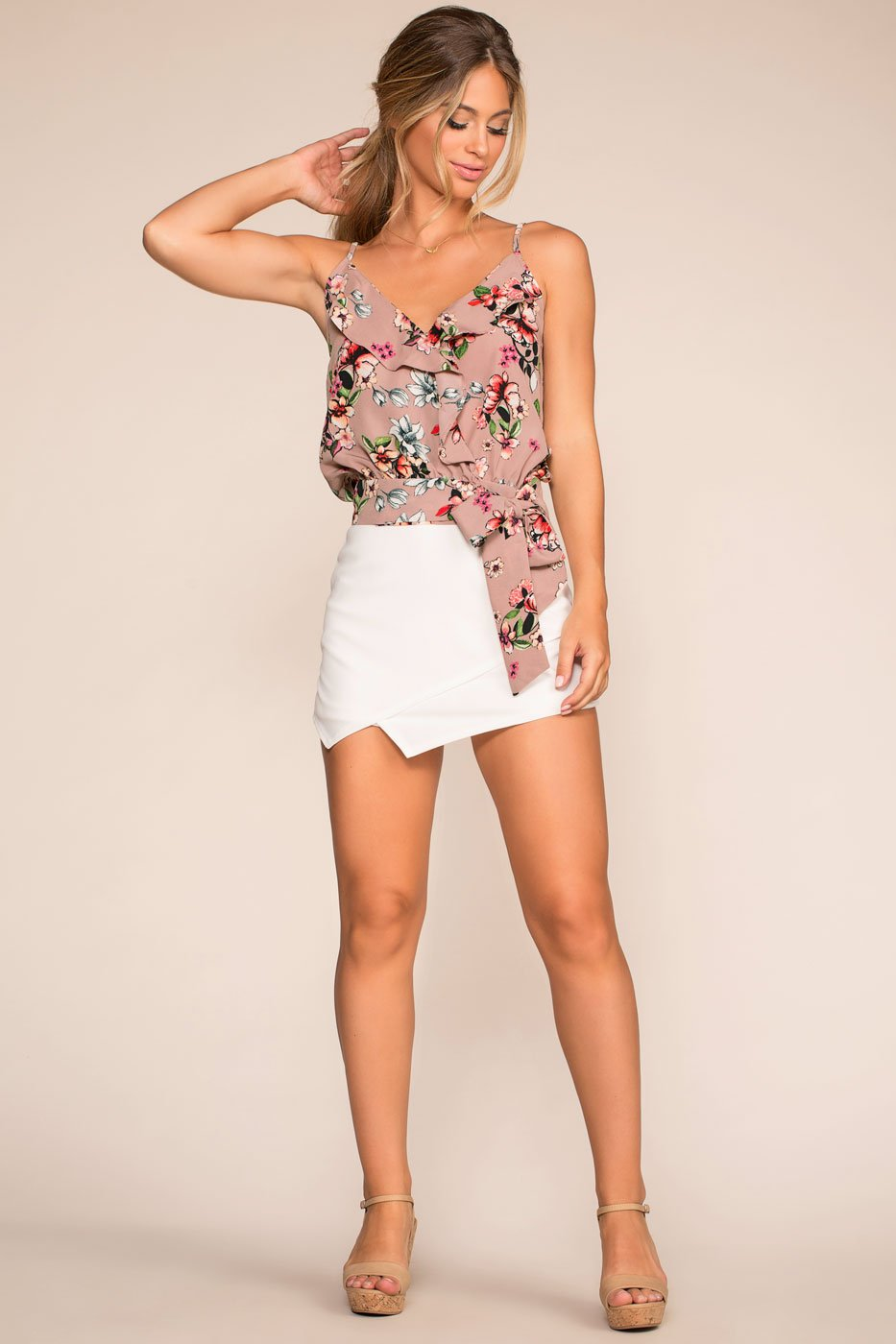 Tops - Pick Just One Floral Top - Mauve