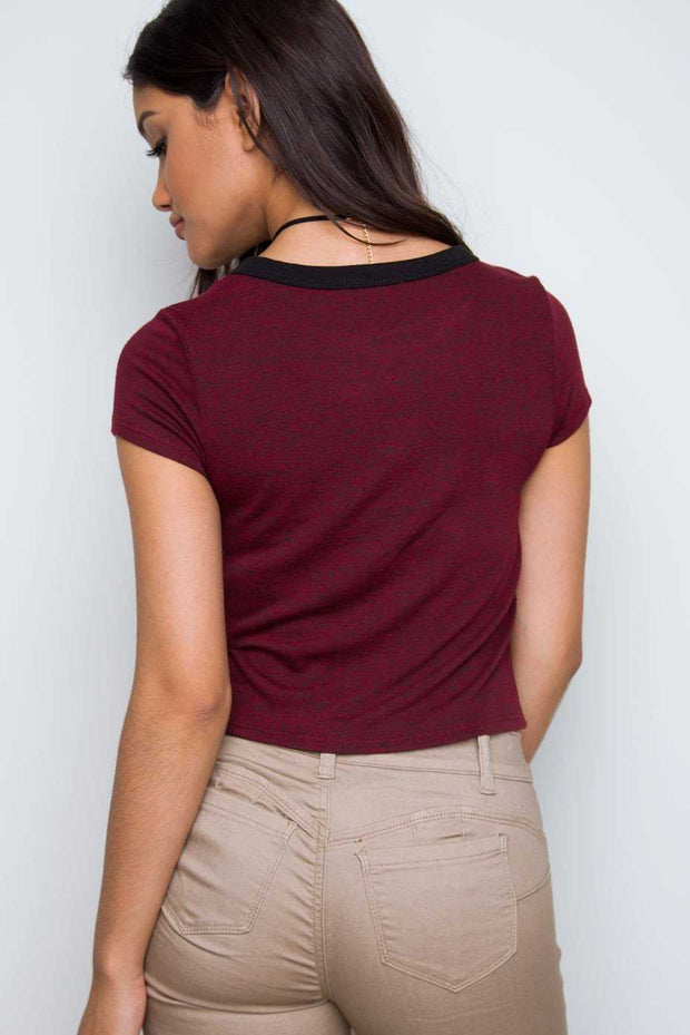 Tops - Rani Crop Top - Burgundy