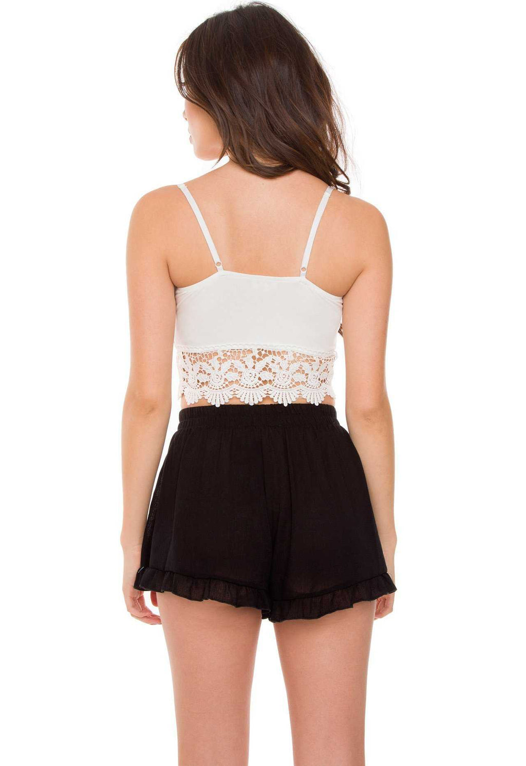 Tops - Rosewell Lace Crop Top