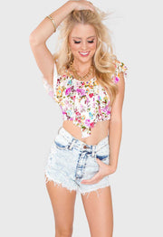Tops - Savannah Floral Crop Top