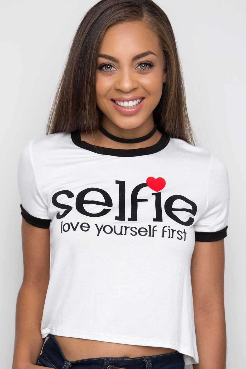 Tops - Selfie Love Yourself Top