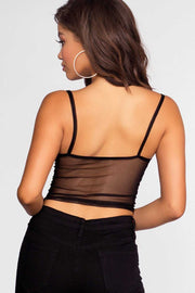 Tops - Sheer Intentions Crop Top