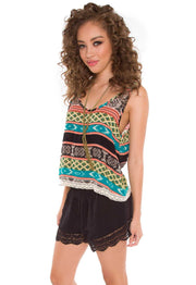 Tops - Shirley Aztec Top