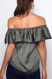 Tops - Sophie Off The Shoulder Top - Olive