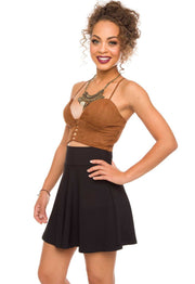 Tops - Sunset Dream Suede Bustier
