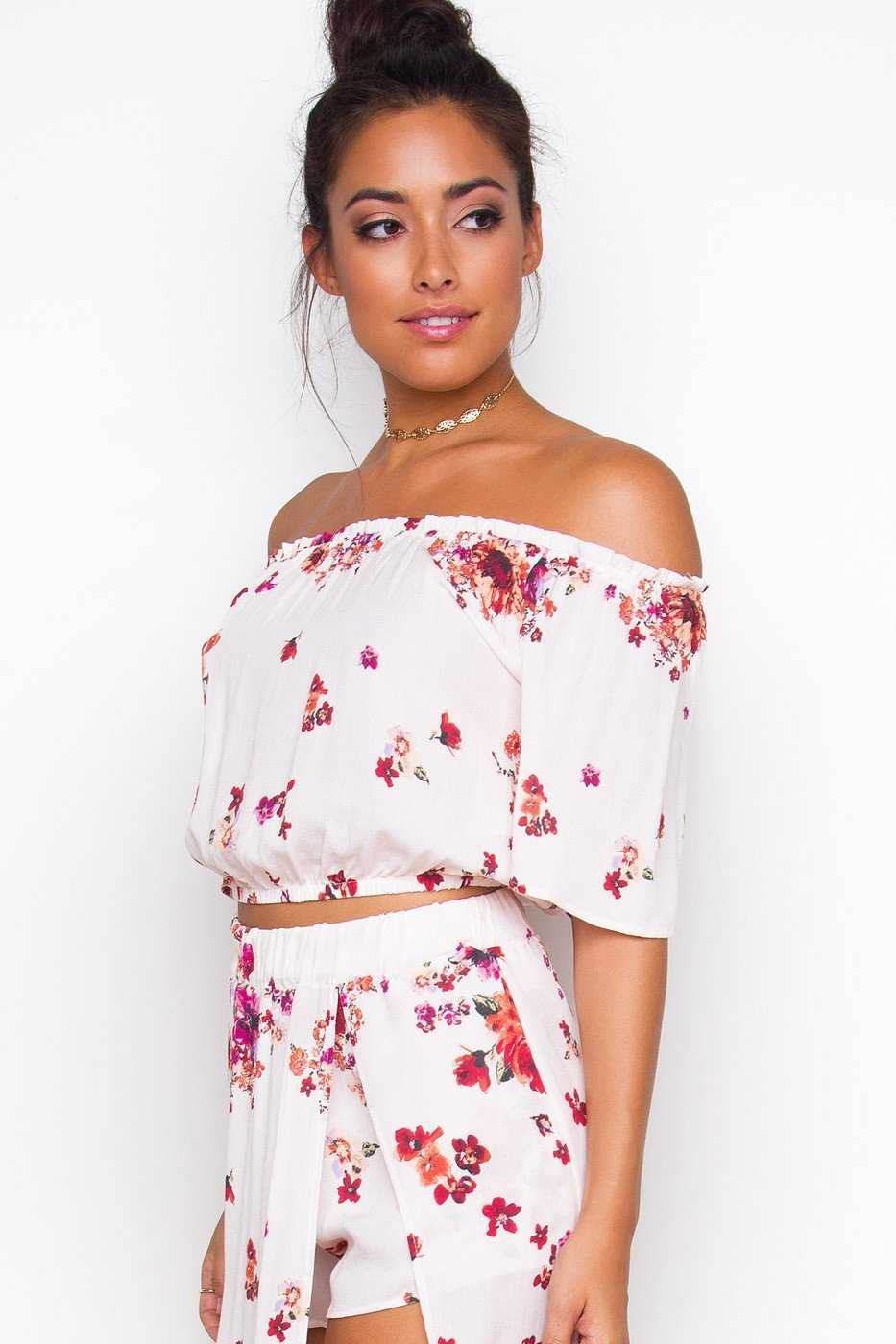 Tops - Sunset Dreams Crop Top
