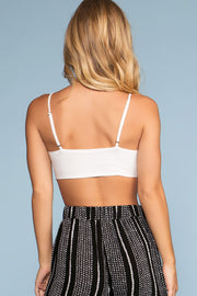Tops - Surf's Up Tie Front Crop Top - White