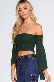 Tops - Take Me There Top - Hunter Green