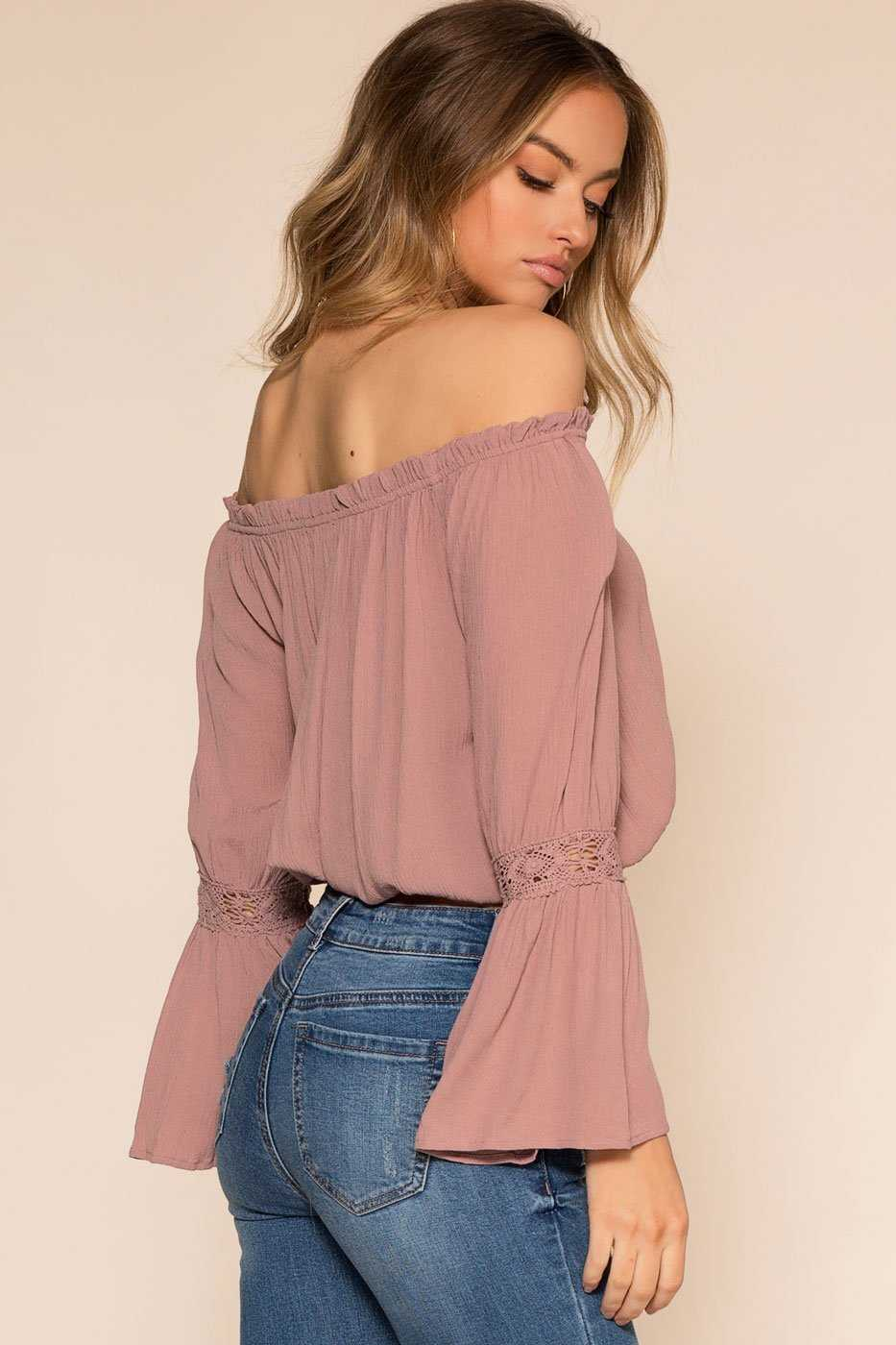 Tops - Tawny Off The Shoulder Top - Mauve