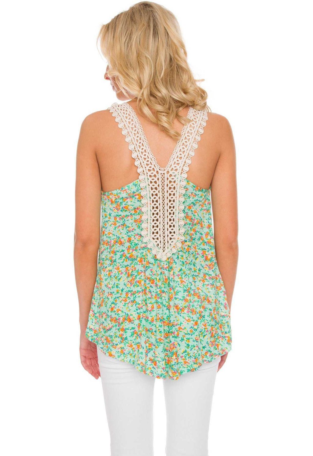 Tops - Tiana Floral Top In Mint