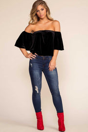 Tops - Twirl In The Twilight Velvet Top