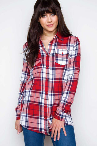 Ace Flannel Top - Black