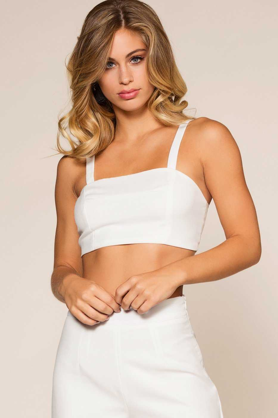 Tops - Victoria Crop Top - White