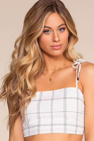 Free Love Striped Off The Shoulder Crop Top