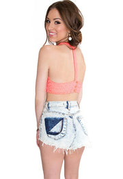 Tops - Wendy Crop Top - Coral