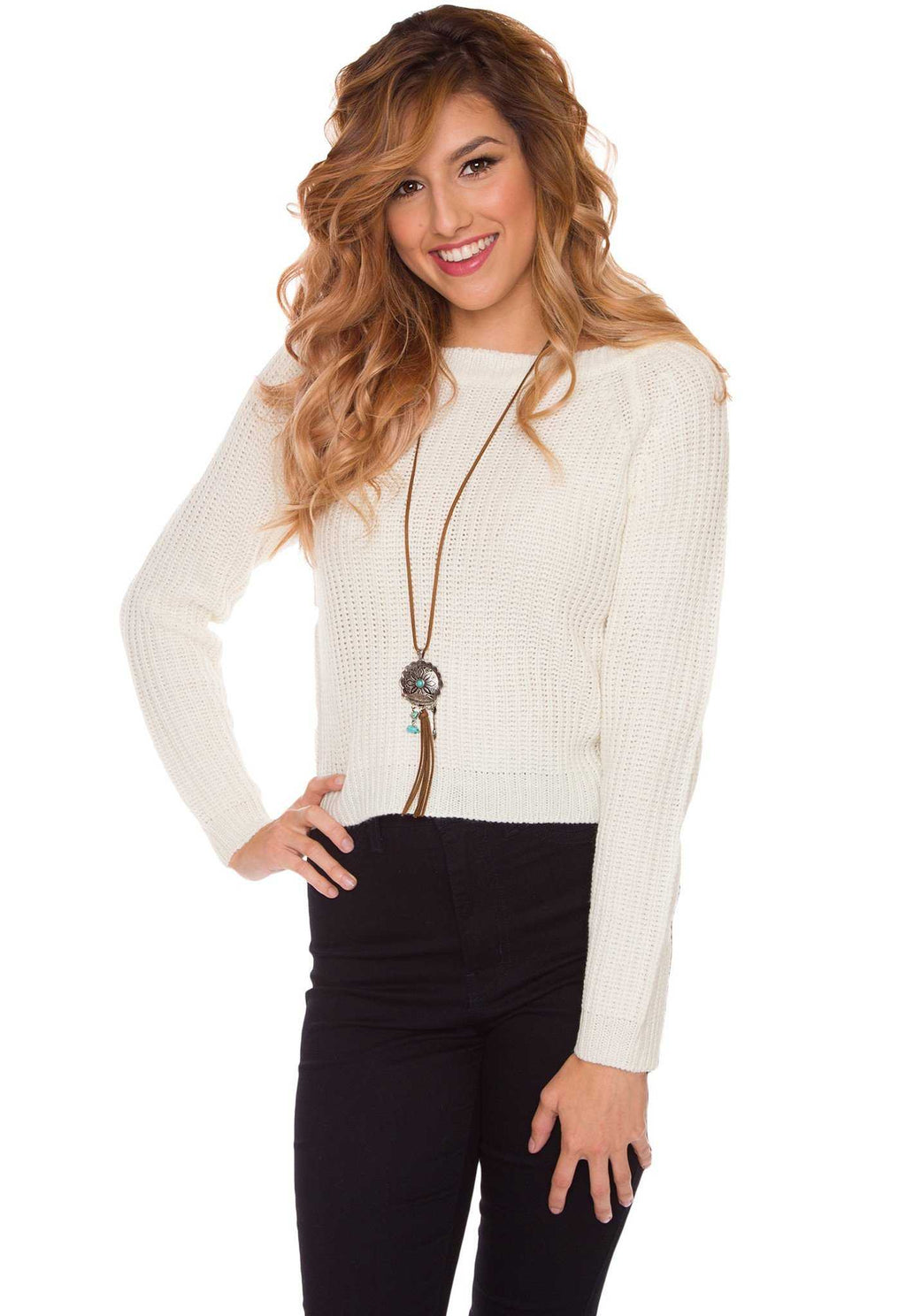 Tops - Whisper Sweater Top - Ivory