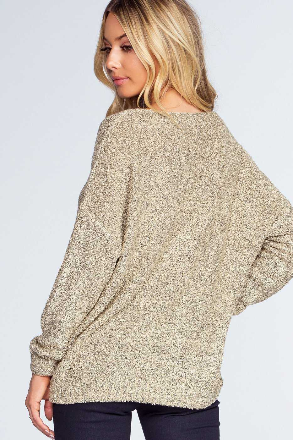 Tops - Wonder Girl Sweater - Taupe