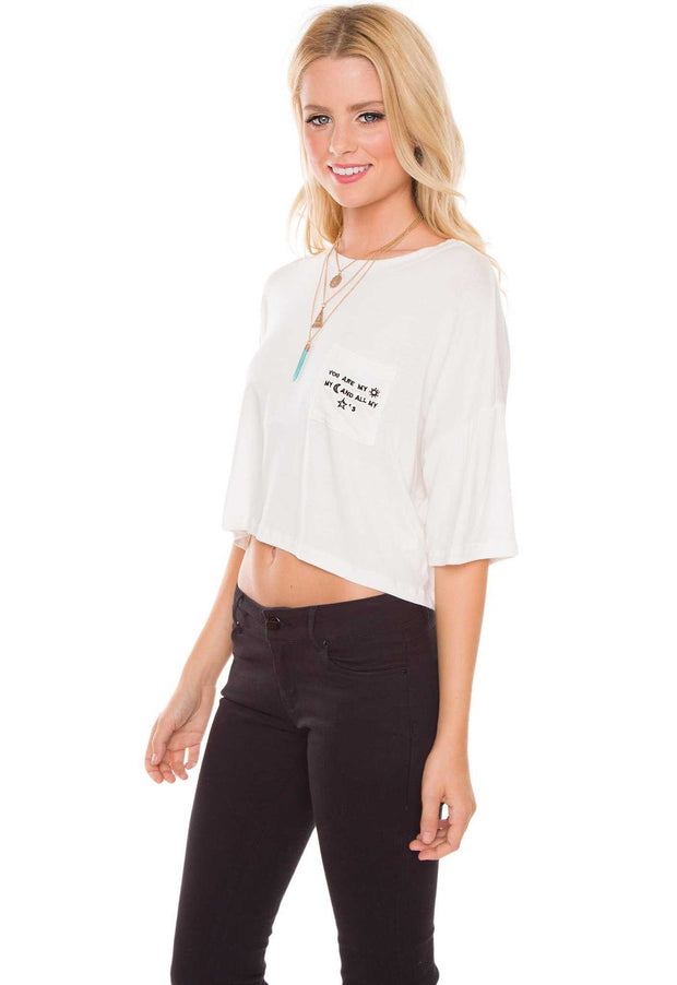 Tops - You Are My Universe Top - White