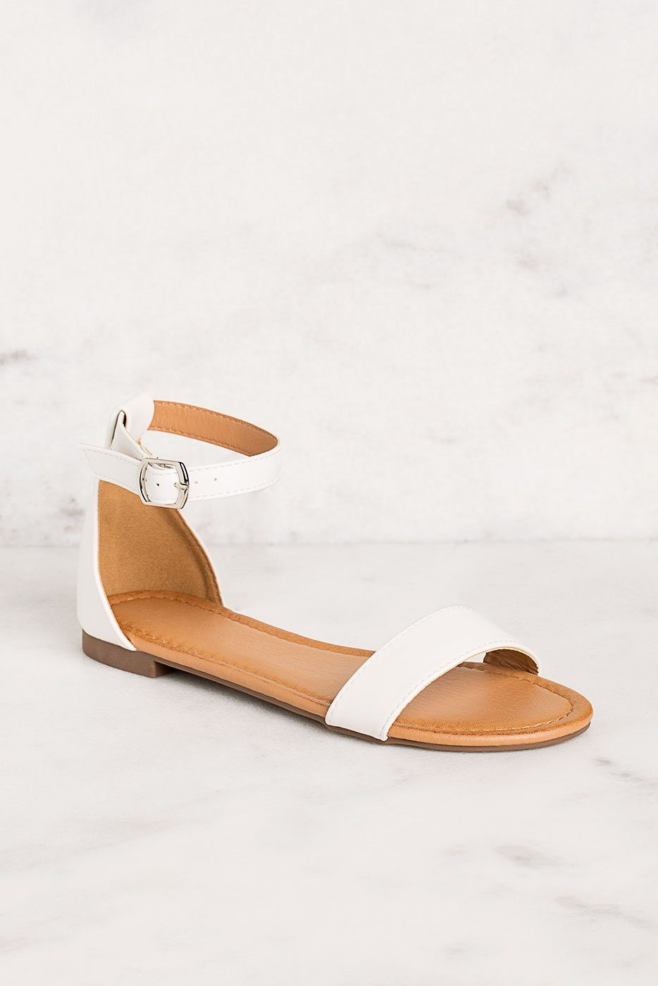 Priceless | White | Ankle Strap | Sandals | Womens