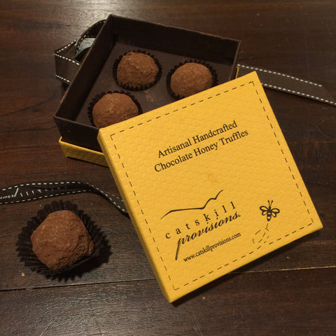 Catskill Provisions Artisanal Handcrafted Chocolate Honey Truffles - 4 pc.