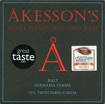 Åkesson's Single Estate Sukrama Farms 75% Bar