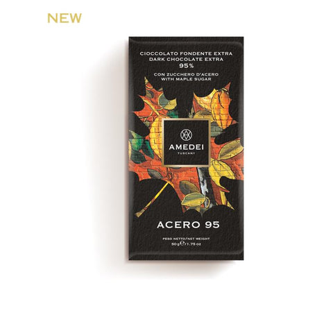 Amedei Dark Chocolate Extra 95% Bar With Maple Sugar