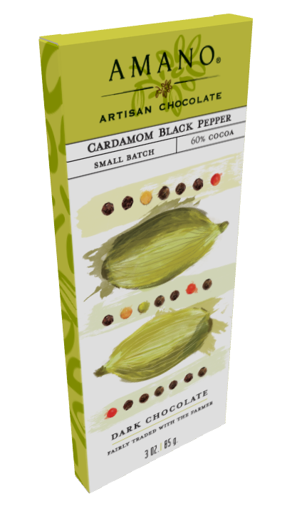 Amano Cardamom Black Pepper 60% Bar