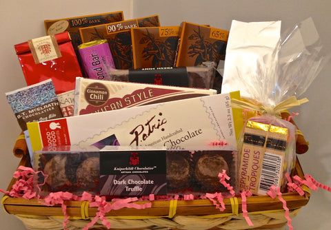 Dark Chocolate Gift Basket: Chocolatier