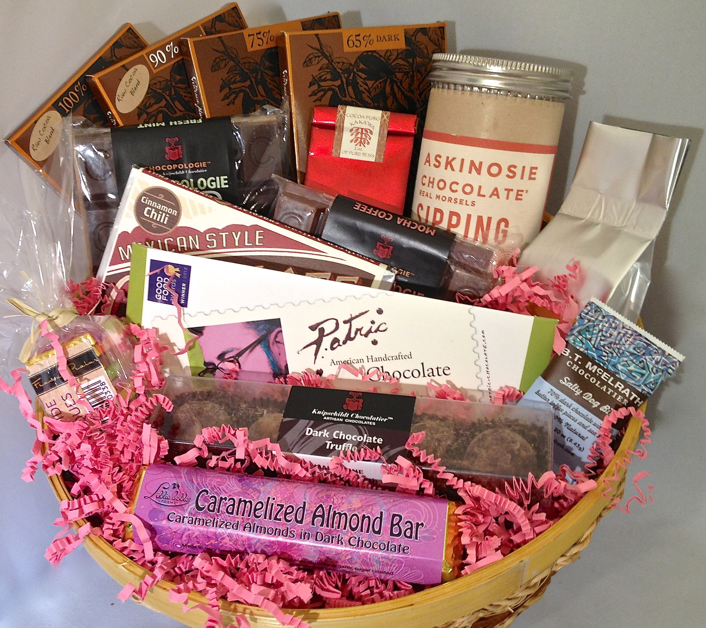 Dark chocolate gift basket chocoholic the chocolate path dark chocolate gift basket chocoholic negle Choice Image