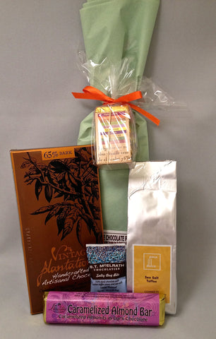 Dark Chocolate Gift Basket: Sampler