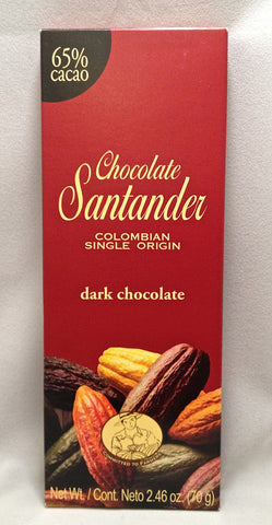 Santander 65% Dark Chocolate Bar