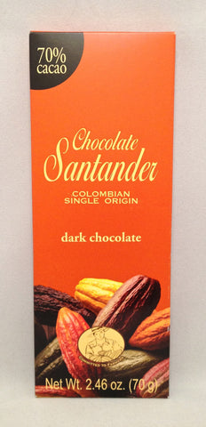 Santander 70% Dark Chocolate Bar