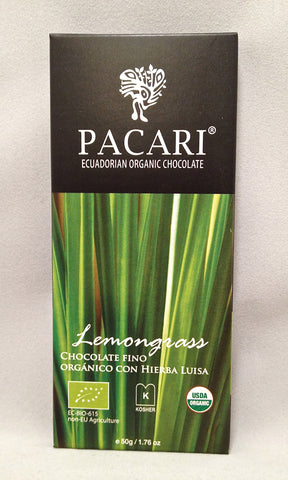 Pacari Lemongrass Dark Chocolate Bar