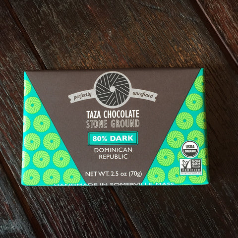 Taza 80% Stone Ground Organic Chocolate Bar