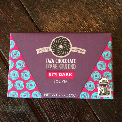 Taza 87% Stone Ground Organic Chocolate Bar
