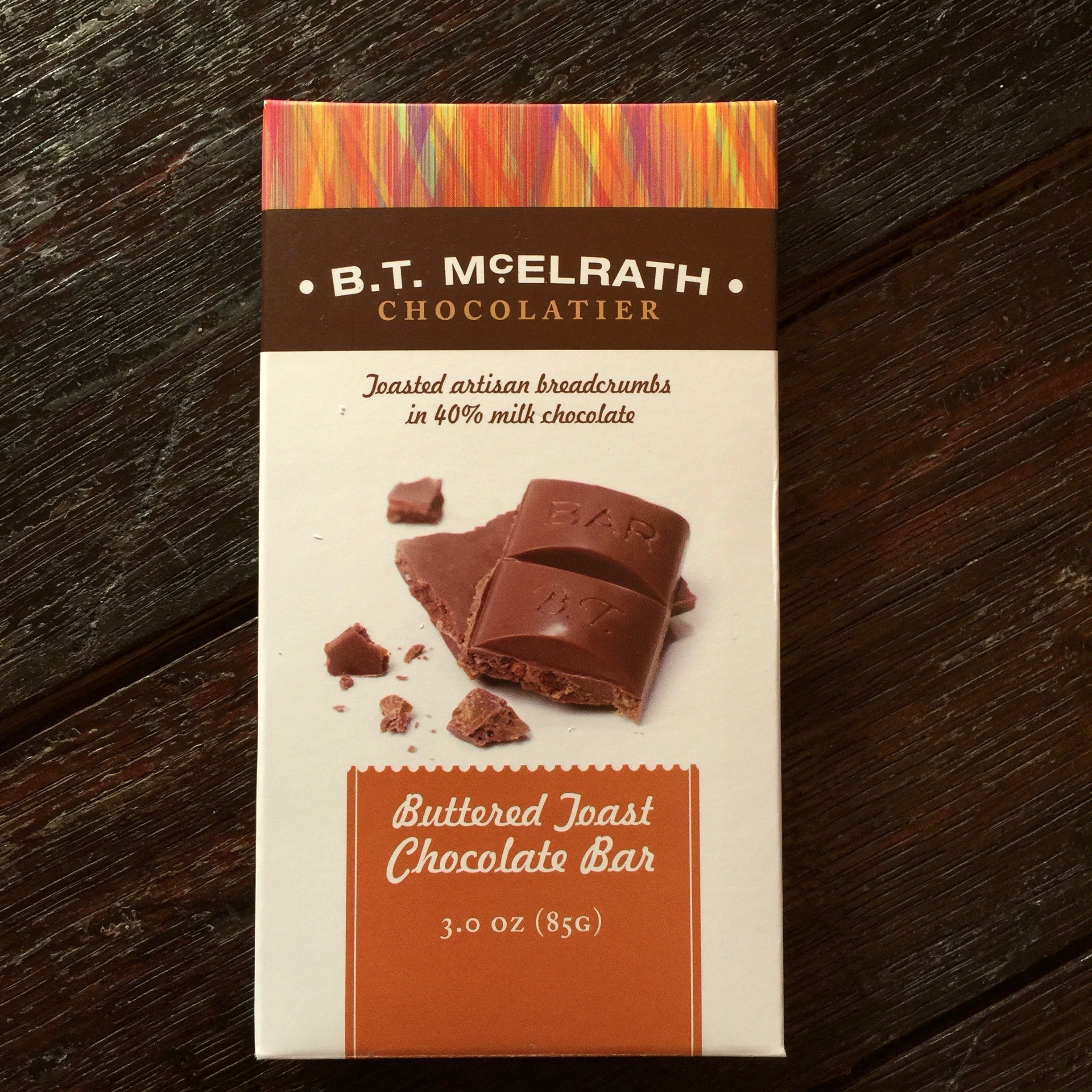 B.T. McElrath Buttered Toast Chocolate Bar From The Chocolate Path®