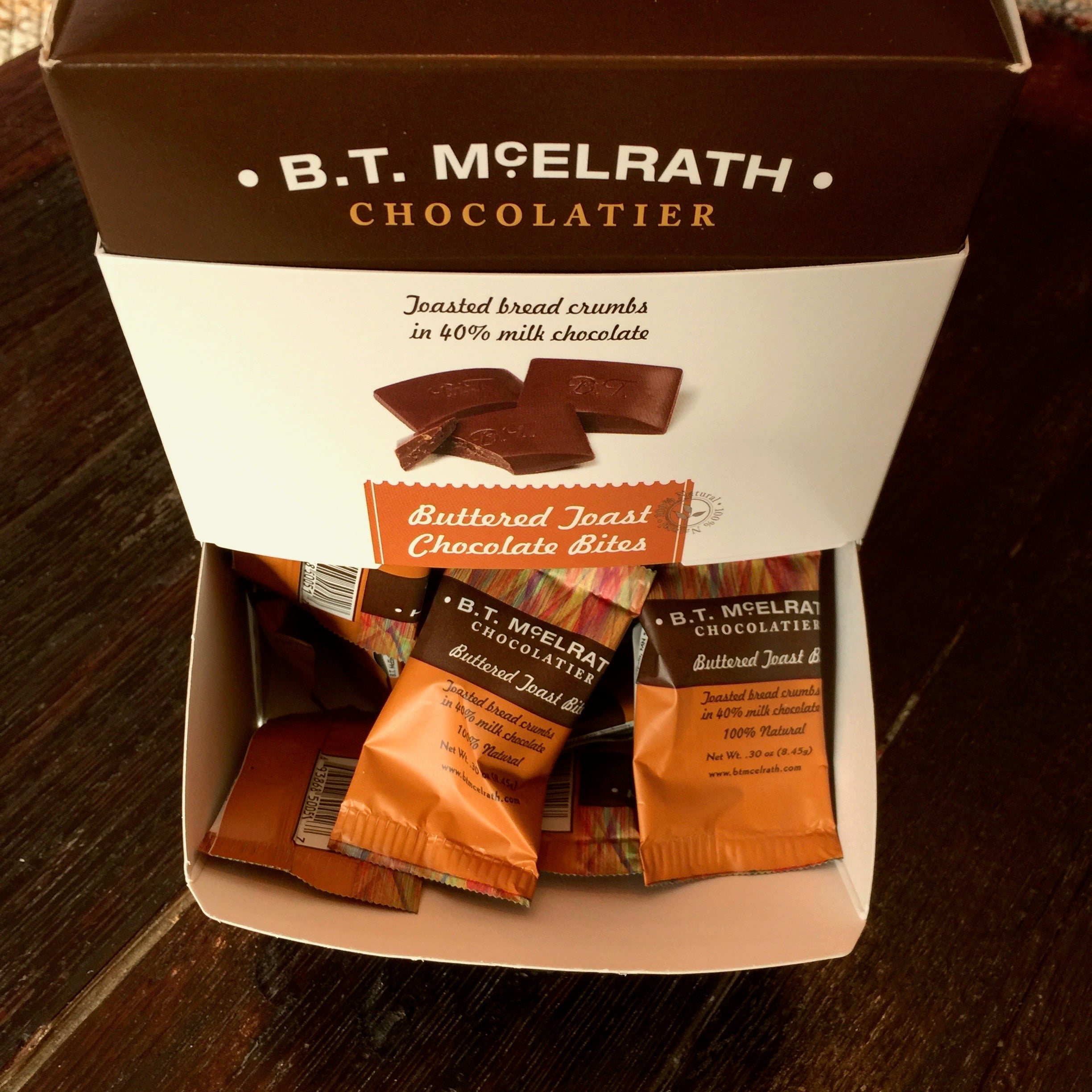 B.T. McElrath Buttered Toast Chocolate Bites - 90 Piece Box From The Chocolate Path®