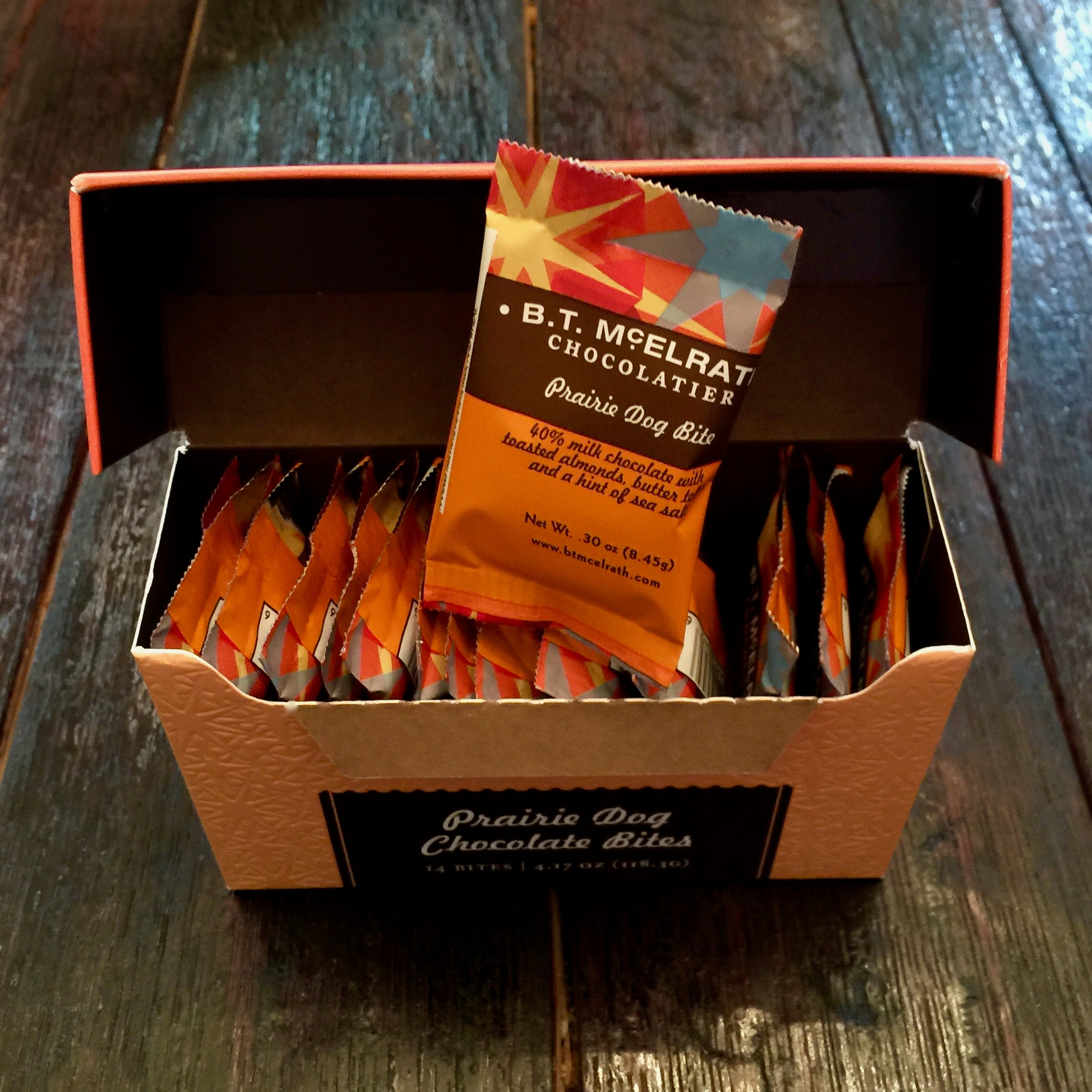 B.T. McElrath Prairie Dog Bites - 14 Piece Box From The Chocolate Path®
