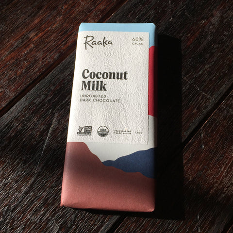 Raaka Unroasted Chocolate - Coconut Milk 60% Bar