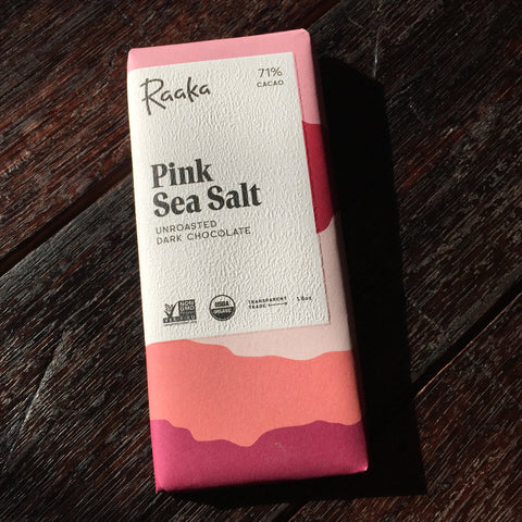 Raaka Unroasted Chocolate 71% Dark with Sea Salt Bar