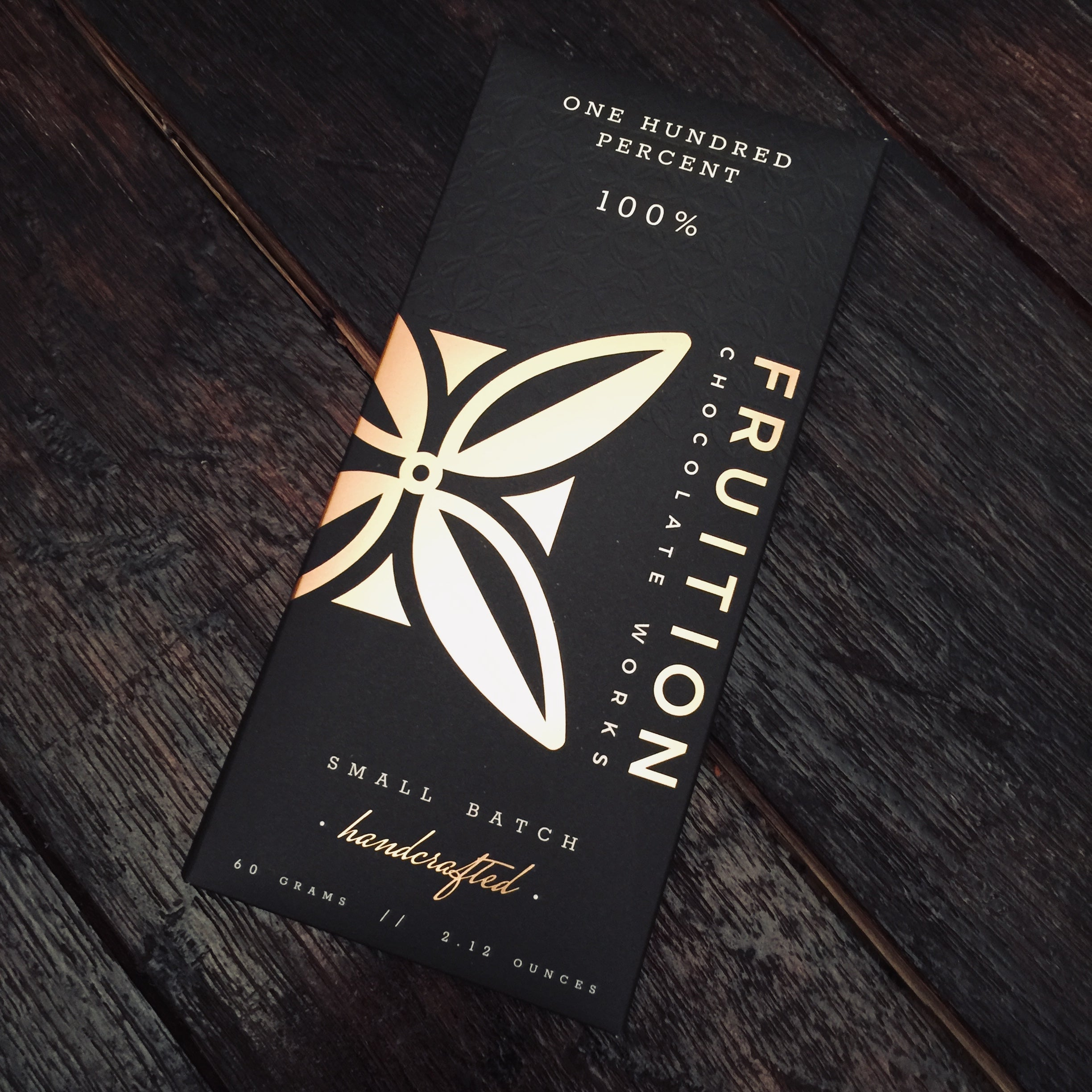 Fruition Chocolate Works 100% Dark Chocolate Bar