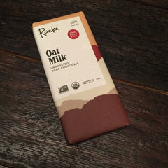 Raaka Unroasted Dark Chocolate Cane Sugar Free Oat Mike 58% Cacao