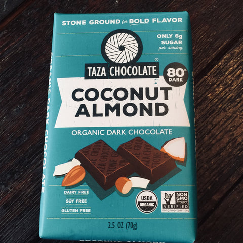 Taza Stone Ground Coconut Almond Amaze Bar