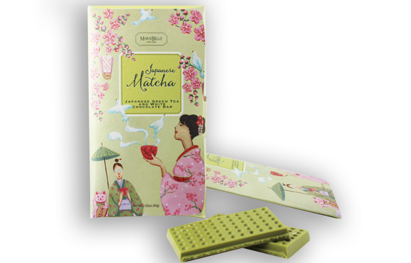 MarieBelle Japanese Matcha Green Tea and White Chocolate Bar