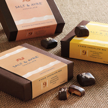 Salt & Ayre Salted Ginger 9 Piece Chocolate Box