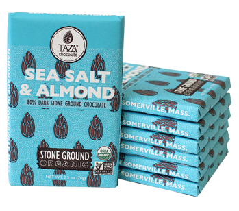 Taza Stone Ground Sea Salt & Almond Amaze Bar