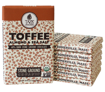 Taza Stone Ground Toffee Almond and Sea Salt Amaze Bar