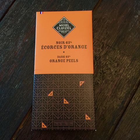 Michel Cluizel Noir Ecorces D'Orange 63% Bar
