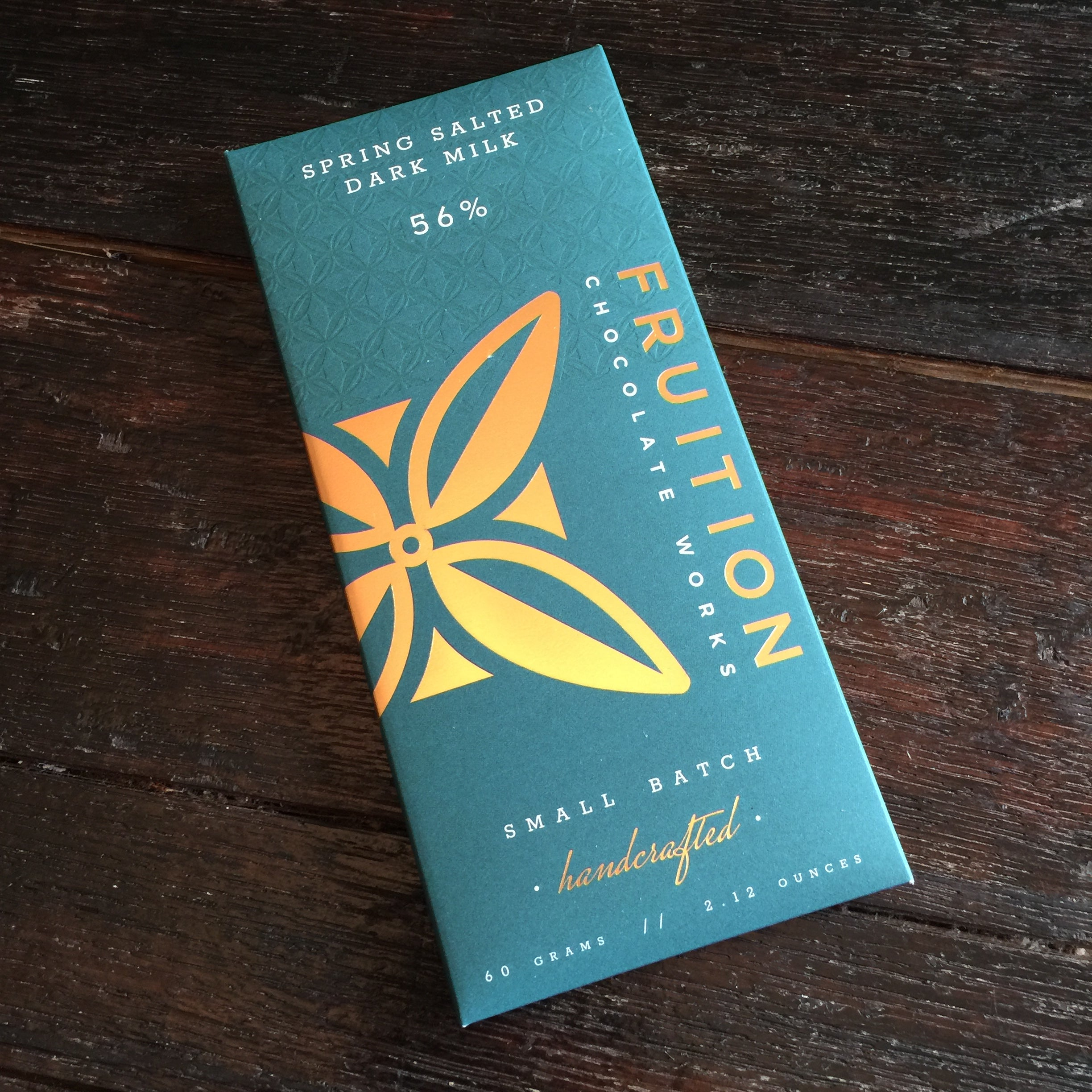 Fruition Chocolate Works 56% Spring Salted Dark Milk Bar