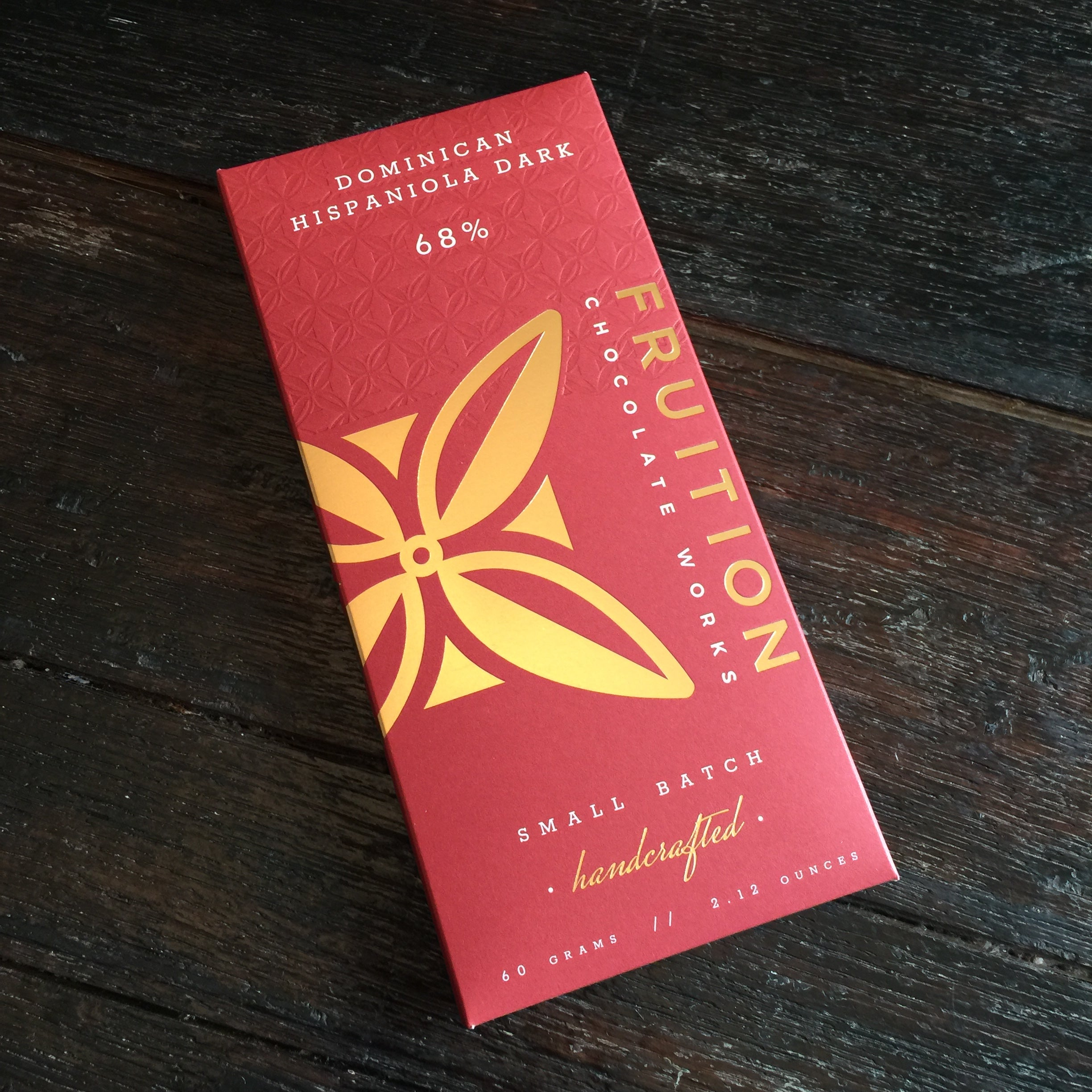 Fruition Chocolate Works 68% Dominican Hispaniola Dark Chocolate Bar